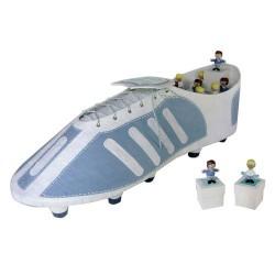 Expositor bota futbolista