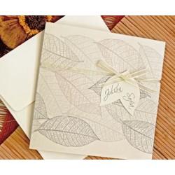 Invitación de boda otoño