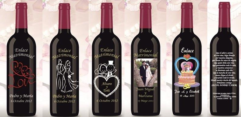 Botellas De Vino Para Regalar En Bautizos.Botella De Vino Personalizada Boda Unpastiche Org